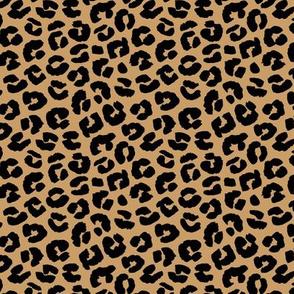 Chunky fat leopard print animals fur modern Scandinavian style raw brush  abstract trend honey ochre black