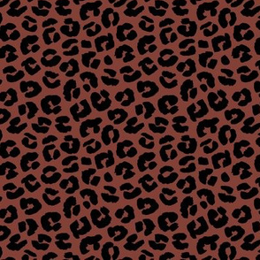 Chunky fat leopard print animals fur modern Scandinavian style raw brush  abstract trend stone red neutral