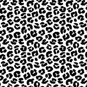 Chunky fat leopard print animals fur modern Scandinavian style raw brush  abstract trend monochrome black and white neutral nursery