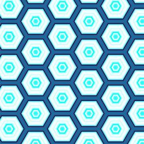 Blue Honeycomb Hexagons Pattern