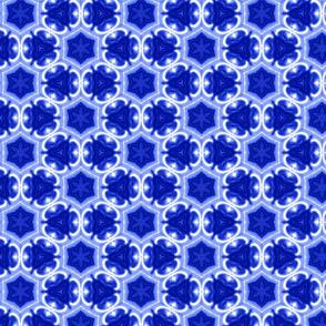 Blue Hexagon Bloom
