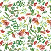 Australian Botanical {White} -small scale
