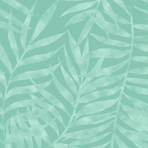 Jungle Shadows-soft aqua