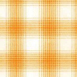 shadow plaid orange