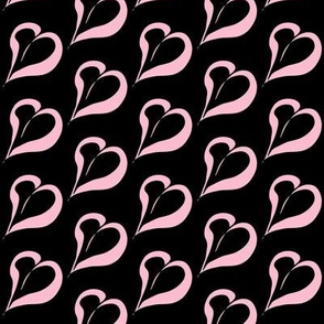 Sweet Love of Lolly Pink on Black- Medium Scale