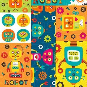 Robot Cheater Quilt Patchwork Kids