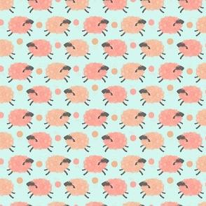 Pink Sheep with Yarn (micro scale)