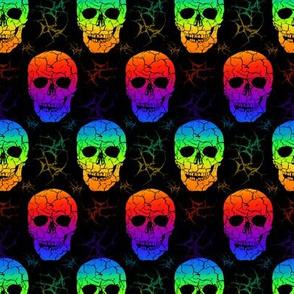 Rainbow skulls SMALL