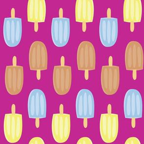 Purple Ice Cream Pattern