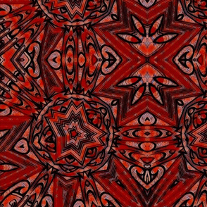 Garnet Deco Stars