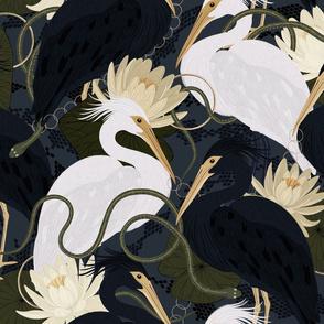 Herons on the hunt