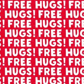 FREE HUGS! - red - LAD20