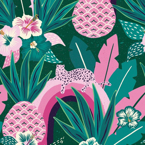 pink green tropical fantasy/jumbo scale