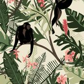 Monkeys - Cream - Extra Large