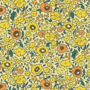 English Garden, Gold Teal