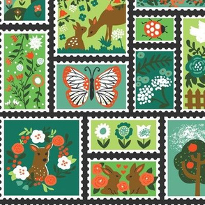 Springtime Stamp Collection, Green Colorway