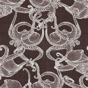 Cephalopod -  Octopi - White & Brown
