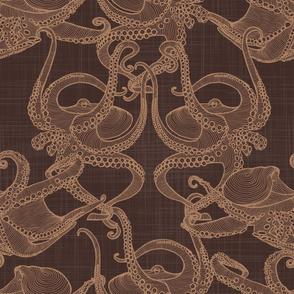 Cephalopod -  Octopi - Caramel & Brown