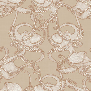 Cephalopod -  Octopi - Caramel & Sand