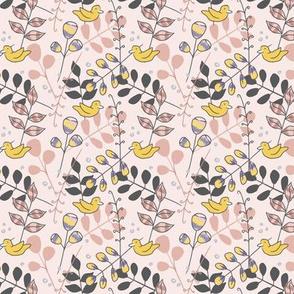 Little Birds on Pink