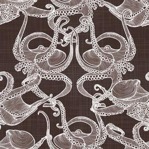 Cephalopod -  Octopi Smaller - White & Brown