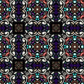 Folk Art Dark Tile, small