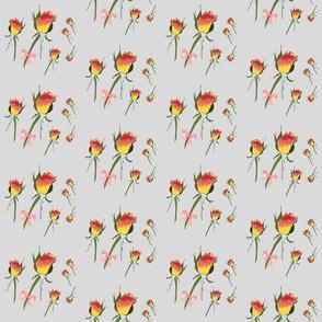 My Valentine's Rose #1 - silver grey, medium