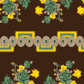 best selling green_ yellow_ brown sunflower design