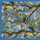 Bird Chorus Tea Towel