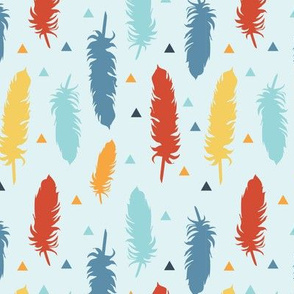 Feather Silhouettes Primary Colors