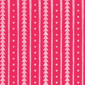Stamped Rows Hot Pink