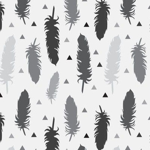 Feather Silhouettes Greyscale