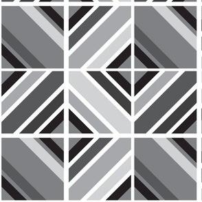 Geometric Tiles Greyscale