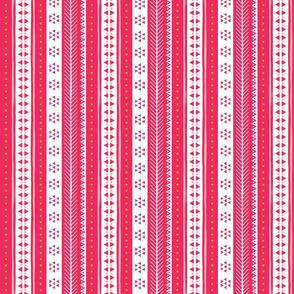 Geometric Rows Hot Pink