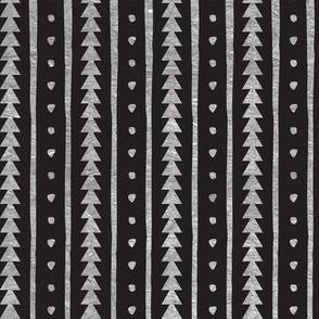 Stamped Rows on Black