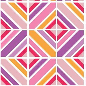 Geometric Tiles Pinks