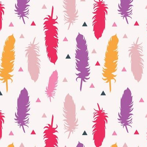 Feather Silhouettes Pinks