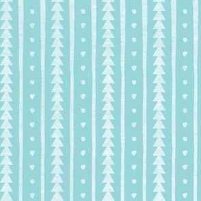 Stamped Rows Light Blue