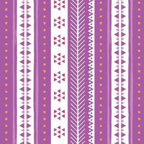 Geometric Rows on Lavender