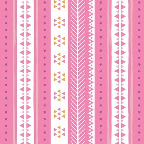 Geometric Rows Pinks
