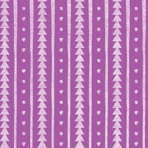 Stamped Rows on Lavender
