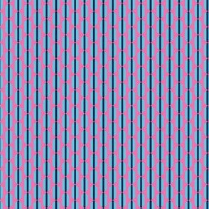 Cool Summer Small Scale Seasonal Color Palette Pink Blue Geometric Stripes