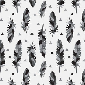 Feathers Greyscale