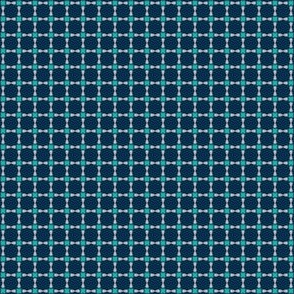 Cool Summer Small Scale Bows in Geometric Seasonal Color Palette Green Navy Gray