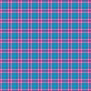 Cool Summer Small Scale Blue Pink Plaid Seasonal Color Palette