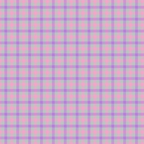Cool Summer Small Scale Pink Gray Lavender Plaid Seasonal Color Palette