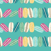Bright Macarons on Mint