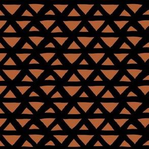 New boho indian summer minimal abstract geometric triangles aztec mudcloth design rust black neutral winter