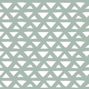 New boho indian summer minimal abstract geometric triangles aztec mudcloth design soft sage eucalyptus neutral green