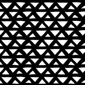 New boho indian summer minimal abstract geometric triangles aztec mudcloth design monochrome black and white